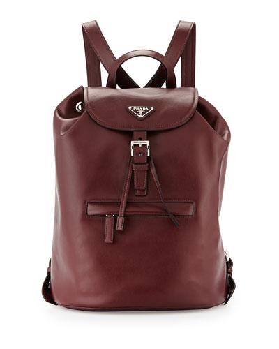 Soft Calfskin Medium Backpack, Bordeaux (Granato)