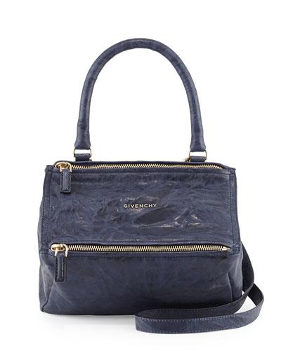 Pandora Small Shoulder Leather Shoulder Bag, Blue