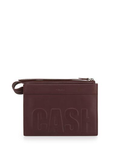 Cash Only Depeche Small Clutch Bag, Bordeaux