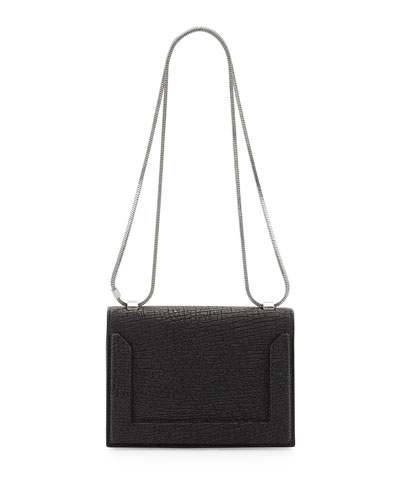 Soleil Mini Chain Shoulder Bag, Black
