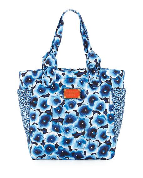 MARC by Marc Jacobs Pretty Nylon Aki Floral Medium Tote Bag, Skipper Blue  Multi 096990bfabaa