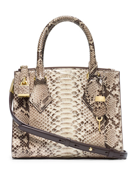 6b1a19e6dd33 Michael Kors Collection Small Casey Python Satchel