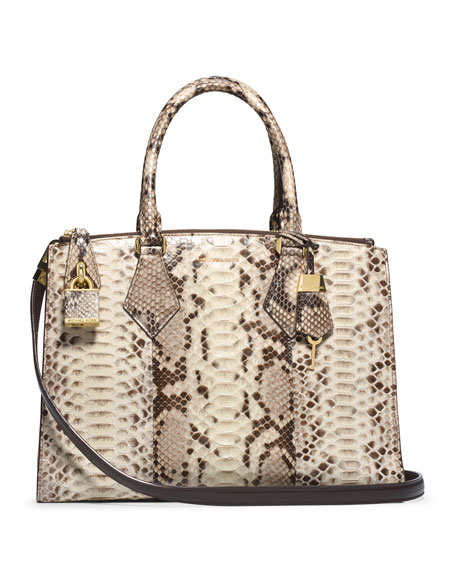 0efca52da942 Michael Kors Collection Large Casey Python Satchel