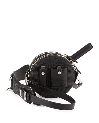Runway Canteen Lizard-Embossed Bag with Mirror