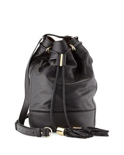 Vicki Large Bucket Bag, Black