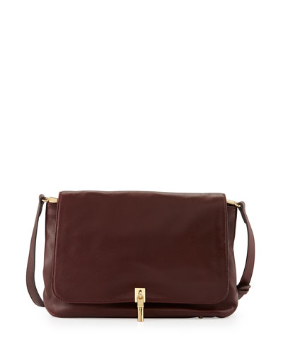 Lambskin Crossbody Bag, Merlot