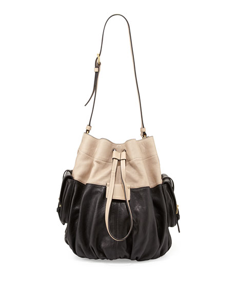 00cf82aee069 Marc By Jacobs Gather Round Drawstring Leather Bucket Bag