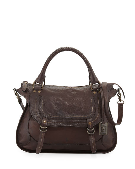 Frye Anna Hammered Leather Satchel Bag 1c6c8d310a58