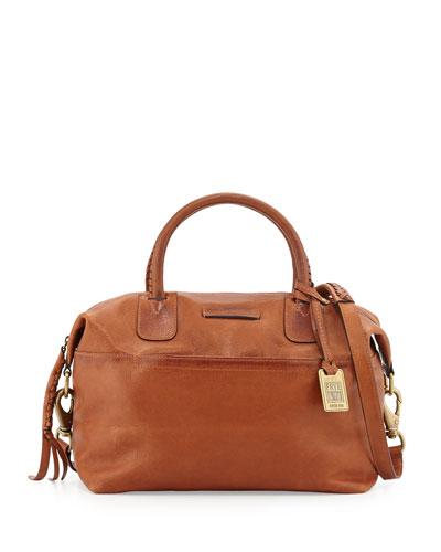 Jenny Soft Leather Satchel Bag, Whiskey