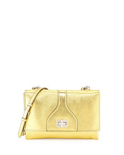 Vitello Soft Chain Shoulder Bag, Golden (Oro)