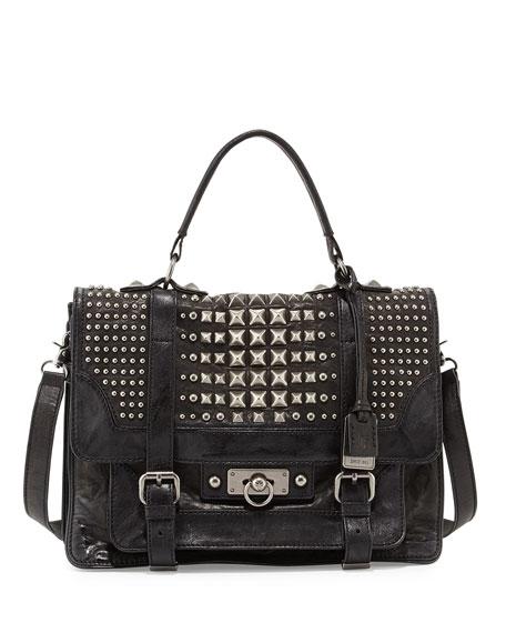 f3305c5426b8 Frye Cameron Leather Studded Satchel Bag
