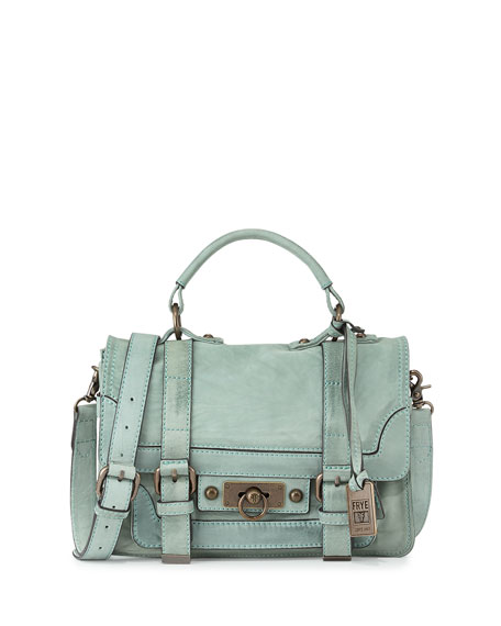 Cameron Small Leather Satchel Bag Mint