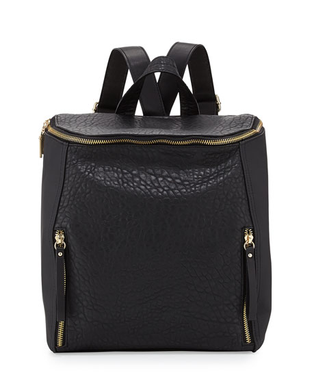 40cb9d20f3 French Connection So Fresh Double-Zip Faux-Leather Backpack