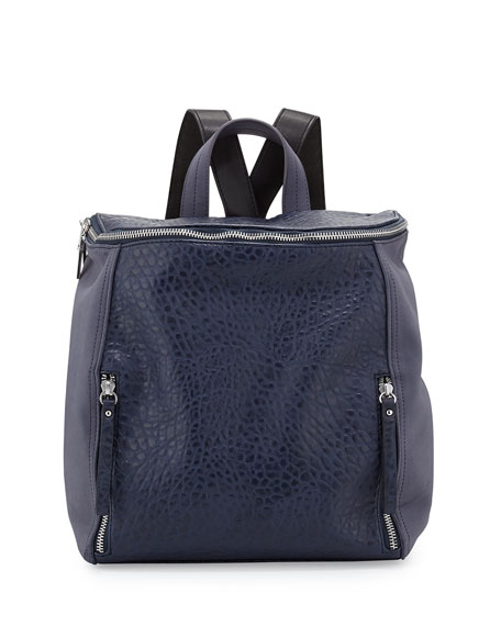 24d12067ec French Connection So Fresh Double-Zip Faux-Leather Backpack ...