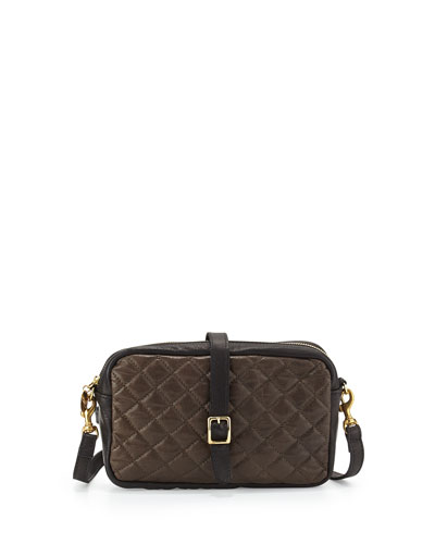 Supreme Colorblock Quilted Mini Sac Crossbody Bag, Olive