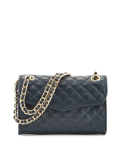 Quilted Affair Mini Shoulder Bag, Ink