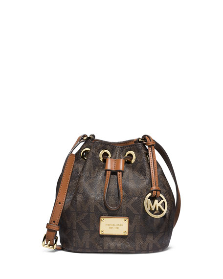 b95488701a4d23 MICHAEL Michael Kors Jules Logo Drawstring Crossbody Bag, Brown