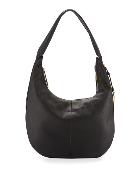 Halston Leather Slouch Hobo Bag 7b08d0c9c8861