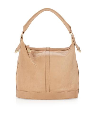 Frame Small Bucket Bag, Nude