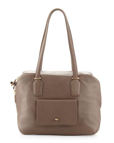 Preface Pebble Leather Large Satchel Bag, Slate