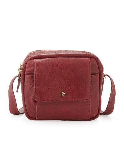 The Daily XBody Burnished Full Grain Leather Crossbody Bag, Cordavan Red