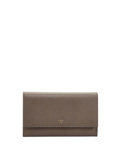 Leather Wallet-on-Chain, Dark Gray