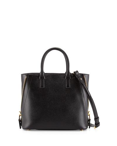 Jennifer Small Trap Tote Bag, Black