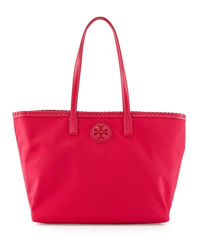 Marion Nylon Tote Bag, Carnation Red