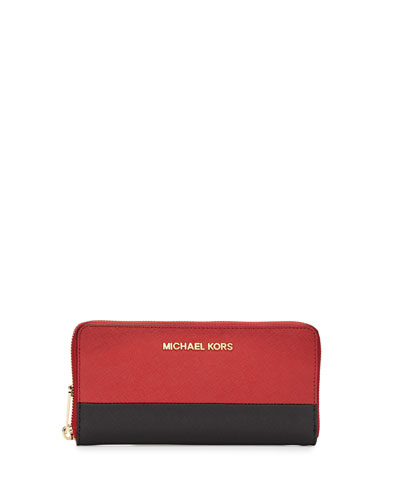 Jet Set Travel Zip-Around Continental Wallet