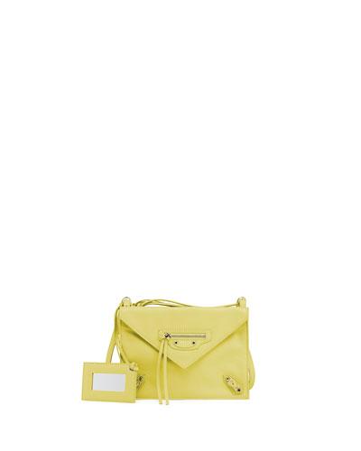 Paper Envelope Crossbody Bag, Yellow