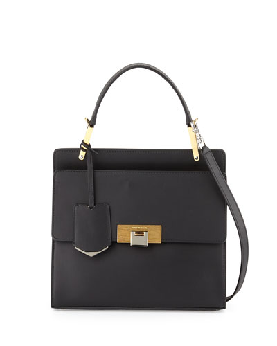 Le Dix Cartable Flap Satchel Bag, Black