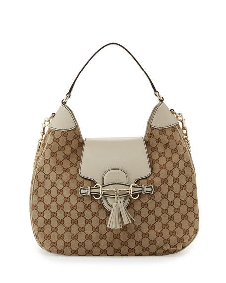 Gucci Emily Original GG Canvas Hobo Bag 7d2a9545c