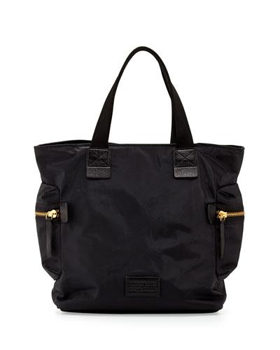 Domo Arigato Nylon Tote Bag, Black