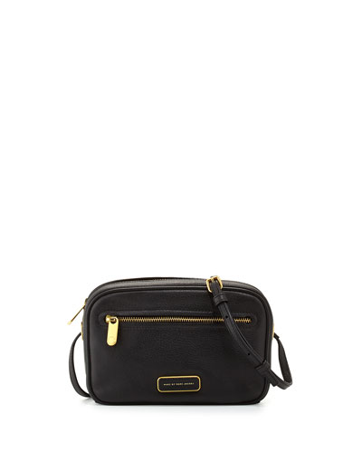 Sally Leather Crossbody Bag, Black