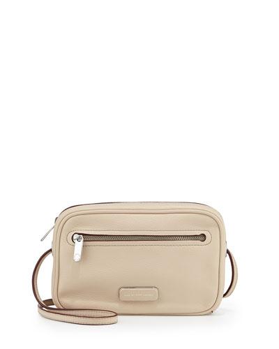 Sally Leather Crossbody Bag, Light Sand