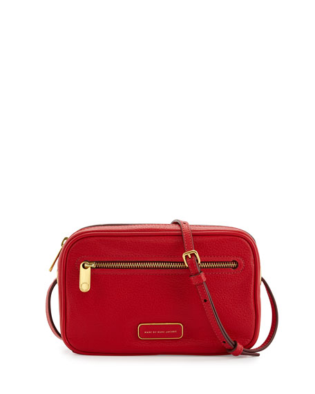 65a4d7e322c Sally Pebbled Leather Crossbody Bag Rosey Red