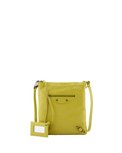 Classic Flat Crossbody Bag, Jaune Poussin