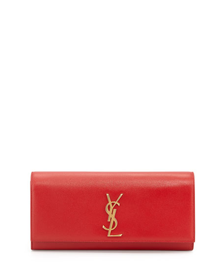 2bd7f531ba2e Saint Laurent Cassandre YSL-Flap Leather Clutch Bag