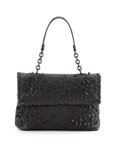 Olimpia Tobu Fringe Shoulder Bag, Dark Gray