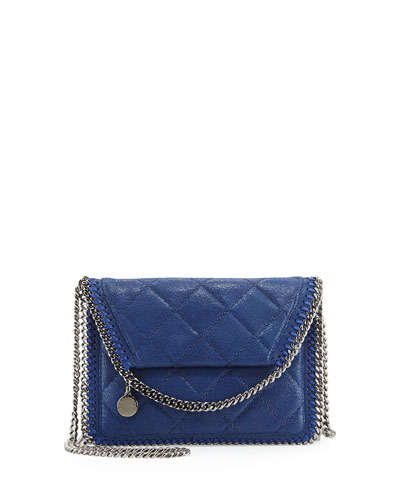Falabella Quilted Flap Crossbody Bag, Bluebird
