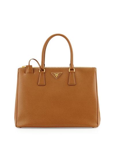 Saffiano Medium Executive Tote Bag, Brown (Caramel)