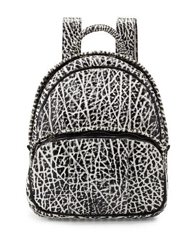 Dumbo Pebbled Backpack, White/Black
