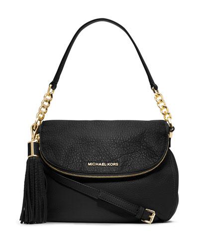 Bedford Medium Tassel Convertible Shoulder Bag, Black