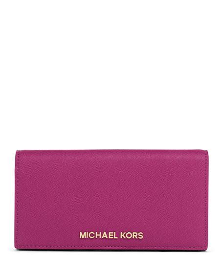 eb9a057edb10 MICHAEL Michael Kors Jet Set Large Slim Saffiano Travel Wallet
