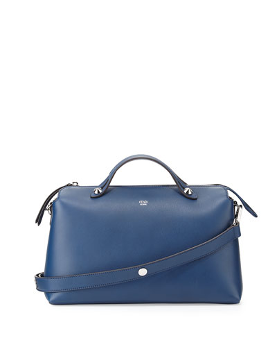 By The Way Leather Satchel Bag, Blue Royal
