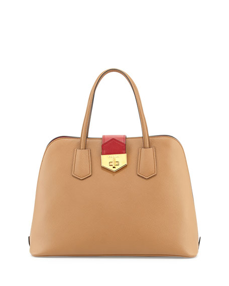 99ddff9ebc38 Prada Saffiano Cuir Bicolor Promenade Bag