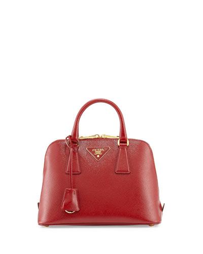 Saffiano Vernice Mini Promenade Bag, Red (Scarlato)