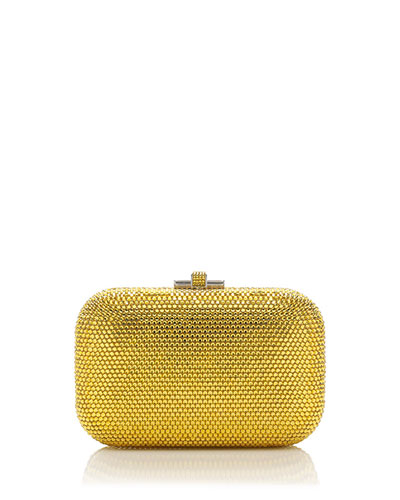 Crystal Slide-Lock Clutch Bag, Sunflower
