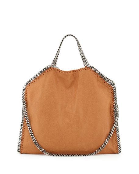 Falabella Fold Over Tote Bag Tan