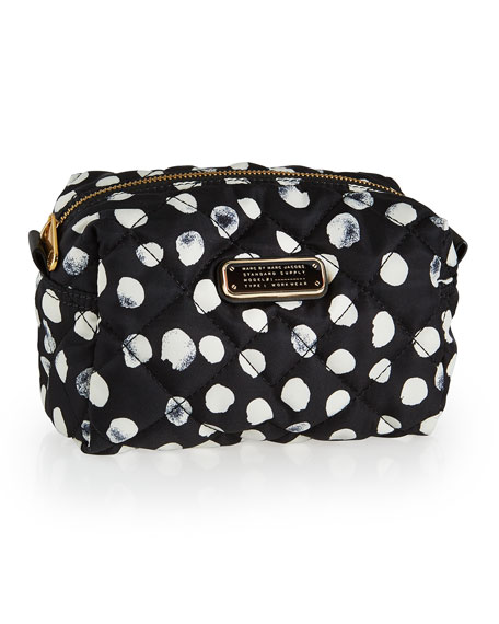 Crosby Quilted Polka Dot Cosmetics Bag Black Multi